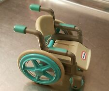 ☆ Vintage Little Tikes Wheelchair Wheel Chair & Boy Doll Furniture Dollhouse Toy