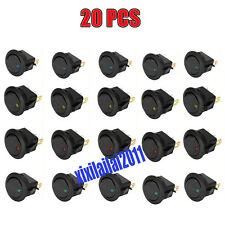 20 Stück 12V LED beleuchtet Auto Kippschalter Rund Wippschalter Ein/Aus Schalter