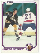 1981-82 OPC HOCKEY #17 RAY BOURQUE SUPER ACTION - GOOD+/VG-