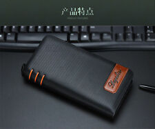 Long Men's Leather Bifold Wallet ID Card Holder Clutch Checkbook Handbag Purse