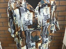 Tickets Clothing Hawaiian design Women's sz Large? Mulit-color geometric print