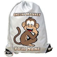 MONKEY PERSONALISED GYM / PE / SWIMMING / DANCE BAG - GREAT GIFT & NAMED TOO