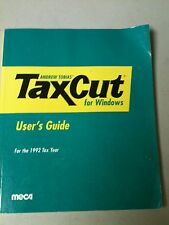 Andrew Tobia's Tax Cut FOr Windows User Guide for the 1992 Tax Year