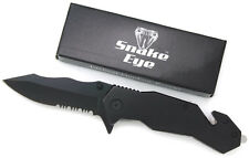 Snake Eye Tactical Heavy Duty Black Mirror Finish Action Assisted Folding Knife