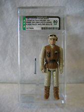 AFA 80 vintage Star Wars REBEL SOLDIER Hoth figure Kenner 1980 MOLDED BOOTS Rare