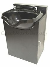 Shampoo Bowl Round Sink Black Cabinet Spa Salon Equipment TLC-1018-KRGT-FC