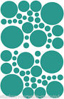 54 TEAL GREEN TURQUOISE POLKA DOTS BEDROOM WALL DECALS STICKERS Teen Baby Nurser