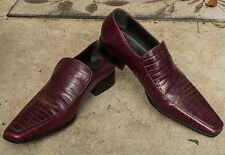 Dsquared2 Mens Genuine Leather Shoes Burgundy Size 41.5 Vero Italy