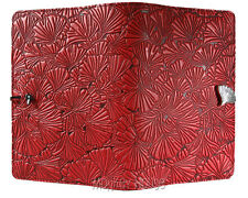 "GINKGO Oberon Design Leather Journal 5""x7"" Small Red leaves refillable JSM37"
