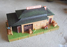 Vintage 1980s HO Scale Tyco Illuminated Freight Station Building