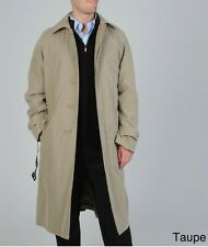 NEW Cianni Cellini Men's TAUPE -46S- 'Renny' Belted Raincoat Trench Jacket