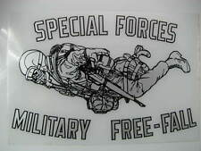 """Decal, (2) US Army Specia Forces  -HALO -Freefall 7""""x4"""""""