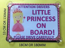 Little Princess On Board Car Laminated Sign (blonde Hair)