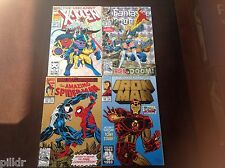 AMAZING SPIDERMAN 375-IRONMAN 290-FANTASTIC 4 #375-XMEN 300 FOIL COVERS FREE S&H