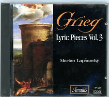 GRIEG Lyric Pieces Vol. 3 CD  1995  Marian Lapsansky  Amadis Label  Mint Disc