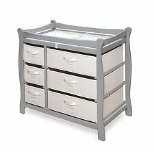 Badger Basket BABY CHANGING TABLE, Nursery Furniture CHANGING TABLE, Gray