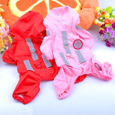 Clothes For Dogs Pet Puppy Dog Clothing Waterproof Dog Rain Coat Raincoat Red M