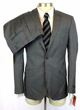 New TED BAKER ENDURANCE Grey Plaid Wool 2Btn Flat Front Suit 36 36R / 38R NWT!