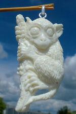 Maki ( Koboldmaki ) aus Bein geschnitzt - Anhänger Silber 925