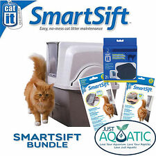 BIG SAVINGS Complete Value Pack Catit SmartSift Hooded Cat Litter Tray Toilet