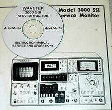 WAVETEK 3000 SSI Service Monitor, Ops & Service Manual