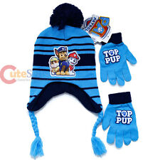 Paw Patrol Laplander Knitted Beanie Hat Gloves 2pc Set  Marshall  Chase Cap