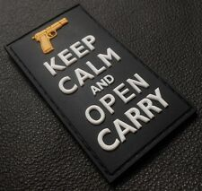 PVC GLOW KEEP CALM AND OPEN CARRY BADGE GITD SWAT VELCRO® BRAND FASTENER PATCH