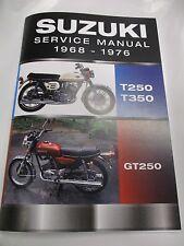 Suzuki T250 T350 GT250 service manual 1969-1976