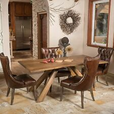 Contemporary Rustic Design Oak Wood Dining Table