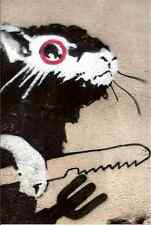 Banksy Rat With Knife Fork A3 Photo Print Poster