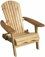 Foldable Wooden Chair Adirondack Outdoor Patio Garden Wood Armchair