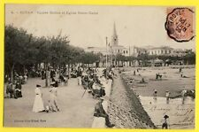 CPA France 17 - ROYAN (Charente Maritime) SQUARE BOTTON ÉGLISE Belle Animations