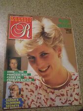 Royalty Magazine 1987 Princess Diana in the Desert Sarah's Slimming Secrets