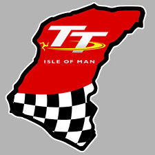 TT ISLE OF MAN ILE DE MAN BIKER 100mmX100mm AUTOCOLLANT STICKER MOTO GP (IA070)