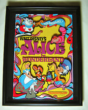 Disney Alice in Wonderland Exquisite Layered Cut Paper Movie Poster Framed LE