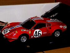 FERRARI  DINO 246 GT #46 LM1972 ROSSA RED  ELITE HOT WHEELS T6258  1:18