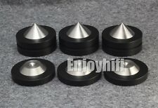 4pcs Speaker AMP Spike Cone & 4 Base Isolation Feet Improve Audio Sound Quality