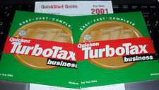2001 TurboTax  BUSINESS Federal Turbo Tax New CD Factory sealed in orig.sleeve