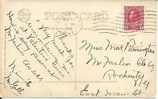 "CANADA - KINGSTON, ONT. 1916 WAVE CANCEL ON ""ST. PATRICK'S DAY"" EMBOSSED CARD"