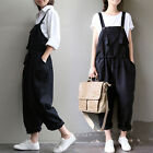 Women Casual Fashion Jumpsuit Strappy Overalls Harem Pants Loose Trousers Romper