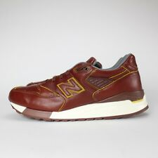 NEW BALANCE M998DW SZ 12 HORWEEN LEATHER BROWN 998 BESPOKE MADE IN THE USA