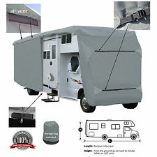Deluxe 4-Layer Class C RV Motorhome Camper Cover Fits 30' -32'L Zipper Access
