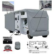 Deluxe 4-Layer Class C RV Motorhome Camper Cover Fits 33' 34'L Zipper Access
