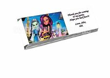Monster high chocolat wrappers X16