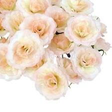 50Pcs Artificial Silk Rose Peony Flower Heads Bulk Craft Wedding Decor Pink