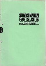 Service Manual-Istruzioni per AKAI gx-630d
