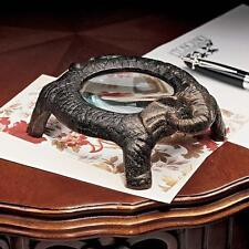 Desktop Pachyderm Heavyweight Cast Iron Elephant Standing Magnifying Glass