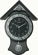 AARAV ENTERPRISES BLACK HUT DESIGN PENDULUM WALL CLOCK