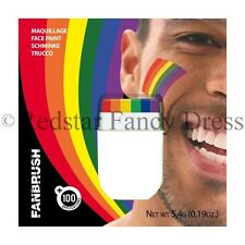 FANBRUSH RAINBOW FLAG FACE & BODY PAINT PAINTS PAINTING RAINBOW COLOURS DESIGN