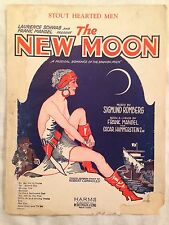 Stout Hearted Men- from The New Moon- Vintage Piano Vocal sheet music-FREE SHIP!